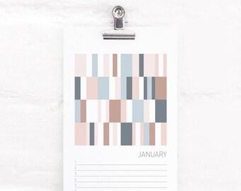 Pastel Perpetual Calendar, Birthday and Anniversary Calendar, Abstract Art, Mini Art Prints