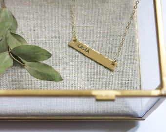 Mama Necklace - Gold fill