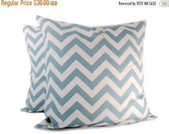 15% Off Sale BLUE PILLOW, Decorative Pillow Covers, Chevron Pillow - Decorative Pillows  cushion covers - Sofa pillow - Accent pillow - vill