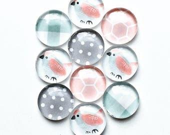 Glass pushpins - pretty pushpins - thumbtacks- office decor - corkboards - message boards - floral decor - pastels