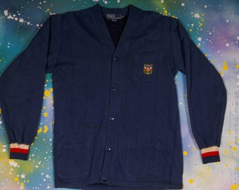 Ralph Lauren POLO Button Up Sweater Size M