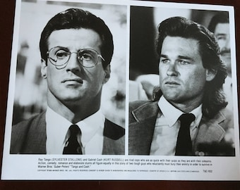 Movie still, Tango and Cash with Sylvester Stallone and Kurt Russell.