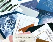 STYLED SHOOT PROP-Wedding Invitation Sample Pack for Photography-Calligraphy Styled Shoot Prop Stationery Details