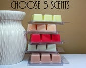 ON SALE - 5 Scented Wax Melts - Choose Any 5 Soy Wax Tarts