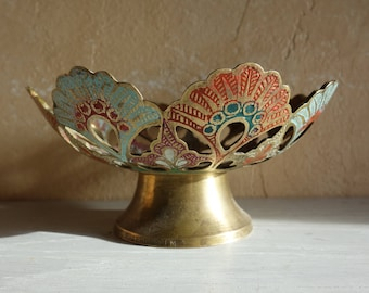 Vintage Brass and Color Bowl  Jewelry