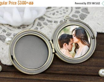 VALENTINE SALE Photo Insert for Locket Necklace. Locket Photo Add-On for Handmade Locket Necklaces from The Teardrop Shop.