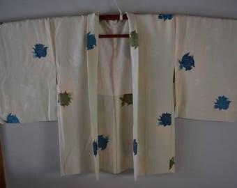 Haori,silk haori jacket, vintage Japanese coat