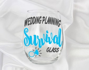 This is my wedding planning glass, wedding planning glass, Bride to be gift, engagement gift for her, wedding planning gift, wine glass