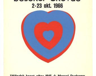 Marcel Duchamp-Moderna Museet (Heart)-1966 Serigraph