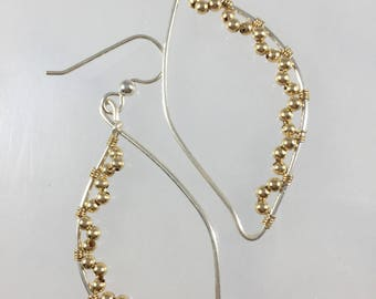 Sterling Silver and 14kt Gold Filled Earrings
