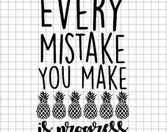Growth Mindset - Every Mistake is Progress - Vinyl Decal