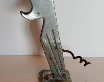 Vintage Parrot Corkscrew Bottle Opener Barware