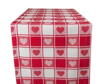 Valentine Heart Table Runner | Vday Table | Valentineu0027s Day Decor |  Valentine Day Decoration |