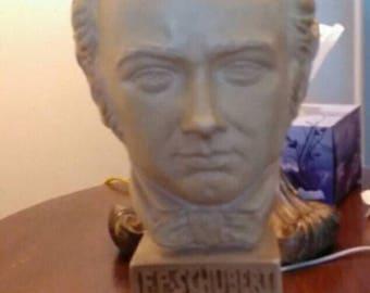 Esco bust F. P. SCHUBERT Chalkware