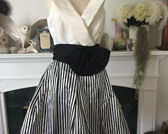 80s W/tags Retro Party Dress