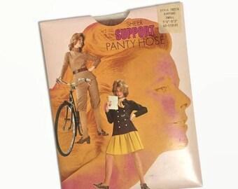 On Sale Vintage Panty Hose - Tan - NOS Unused Deadstock - 70s 1970s - Nylon Tights - Vintage Lingerie - Hosiery