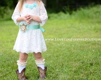 White Lace dress SASH