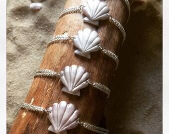 "bracelet coquillage ""mermaid"""