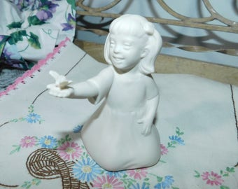 Special Children Hansen Classics Figurine 1993, Girl and Butterfly Figurine, Little Girl Figurine, Collectible Figurine, Butterfly's,