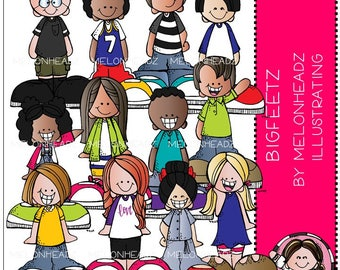 Bigfeetz clip art - Melonheadz Illustrating