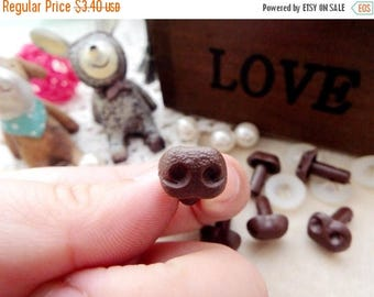 On Sale 12mm Plastic Nose Stuffed Animals Noses Amigurumi Safety Noses Dog Nose - brown - 10 pcs