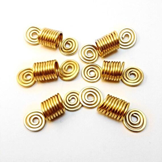 6 PC Set - Dreadlock Braid Twist Hair Bead Dread Locs Jewelry Accessories Natural Hair Gift