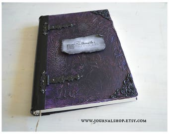 """Personalized large journal large blank book spell book journal magic diary book of shadows sketchbook handmade journal 13.78""""  x 10.03"""""""