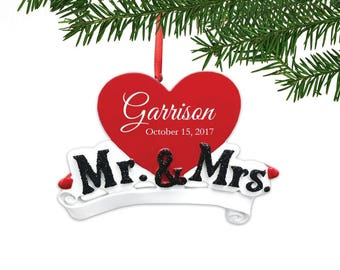 Personalized Mr. & Mrs. Couple Ornament