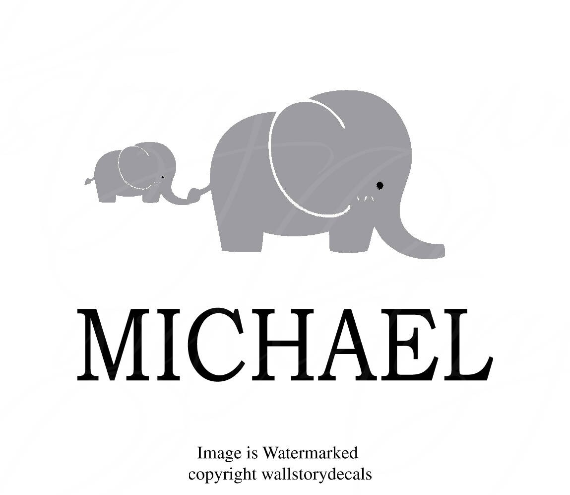 Baby nursery wall decals quotes elephant personalized custom gallery photo gallery photo amipublicfo Images