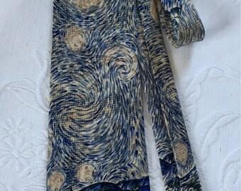 Van Gogh Tie Starry Night Silk Necktie