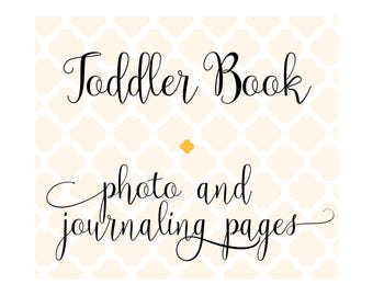 Set of 24 Extra Photo & Journaling Pages for Charmbooks Toddler Memory Books