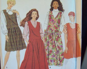 Culotte-Jumper & Jumper, Each in Two Lengths 1990s Simplicity 7434 Uncut Sizes 10-18