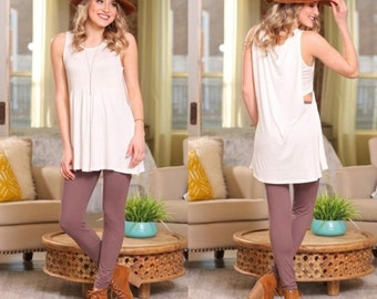 SO CUTE Ivory Sleeveless Tunic for Women | Must-Have for Spring and Summer!
