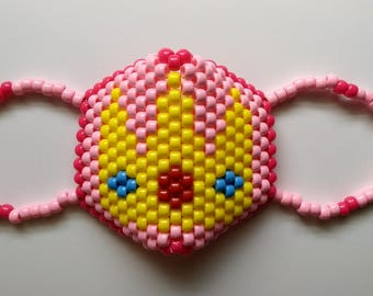 Princess Peach Kandi Mask