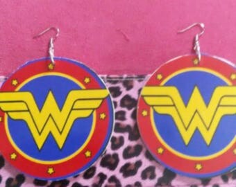Large wonder woman earrings
