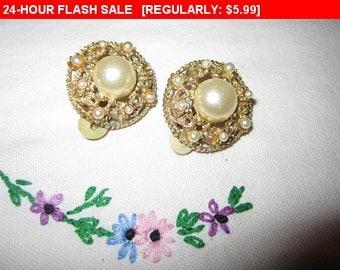 Old clip earrings, vintage, retro, wear or craft