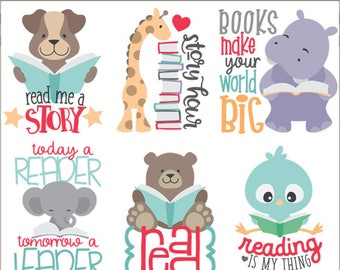 Children's Wall Art READ Print Reading quotes for