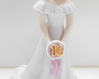 Vintage 1982 Enesco Sweet 16 Growing Up (20) Birthday Girl