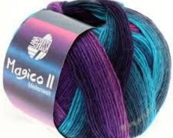 Magico II Sock Yarn - Self Striping Color 3504
