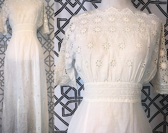 True Edwardian Eyelit Cotton SunDress