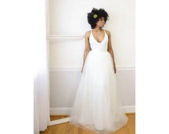 Tulle Skirt - White (Size 8), Adult Tutu,  Long Tulle Skirt, Maxi Tutu, Tulle Bridesmaid Skirt, Tüllrock, Tulle Maxi