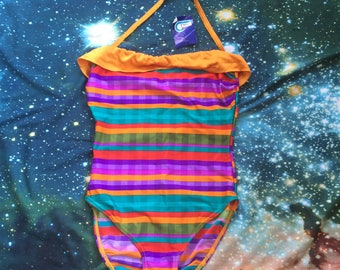 Vintage Mirage Multi Colored One Piece Never Worn Swimsuit
