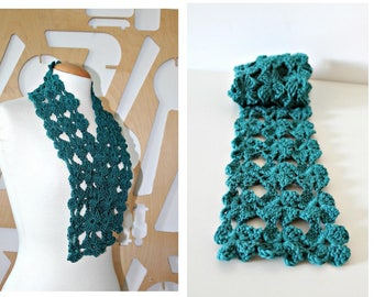 Lace shawl Crochet scarf Bridesmaid gift crocheted shrug comfortable wrap soft cotton