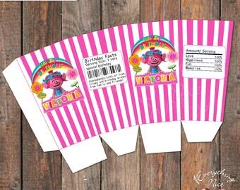 Trolls Poppy Birthday Popcorn Box
