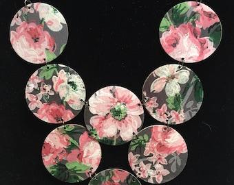 Vintage Rose Statement Necklace