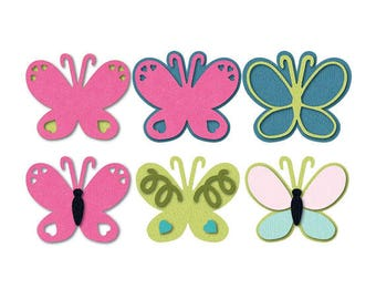 Butterfly Dies by Sizzix, Triplits Thinlets, set of 13 metal dies for paper crafting, stamping, cardmaking, scrapbooking