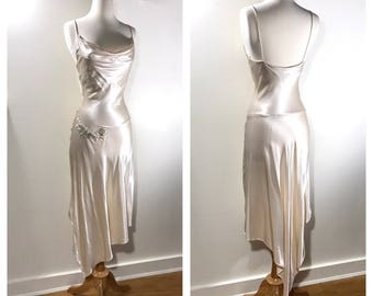 Simple wedding dress etsy for White silk slip wedding dress