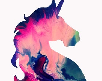"Unicorn Art Print from original painting. 11""x14"""