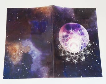 Acetate/ Vellum cristal moon Planner Dashboards For TN's and Midori Travelers Notebook