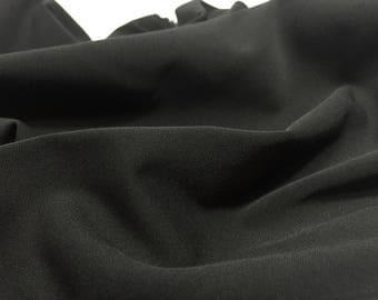 Black Cotton Gabardine, Black Flowy Material, Dress Fabric, Remnant Fabric, Black Material, Cotton Fabric, Cotton Gabardine Fabric